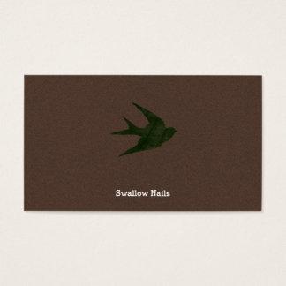 Swallow (Letterpress Style) Business Card