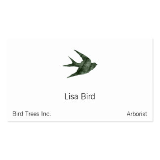 Swallow (Letterpress Style) Double-Sided Standard Business Cards (Pack Of 100)