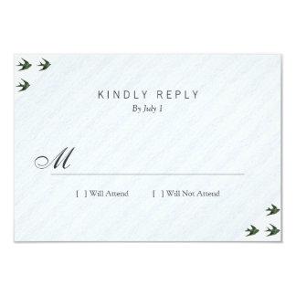 Swallow (Letterpress Style) Custom Announcements