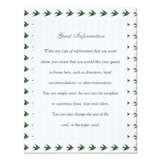 Swallow (Letterpress Style) Personalized Invite