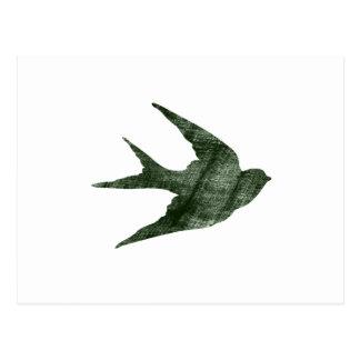 Swallow (Letterpress Style) Post Card