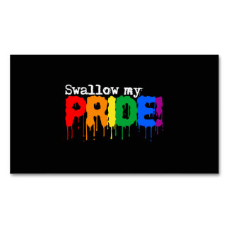Swallow my Pride Magnetic Business Cards (Pack Of 25)