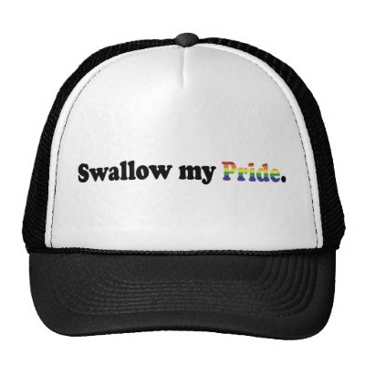 Swallow My (Rainbow) Pride Trucker Cap Trucker Hats by andreoli1