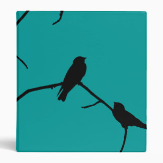 Swallow or Swifts Silhouette Love Bird Watching Binder