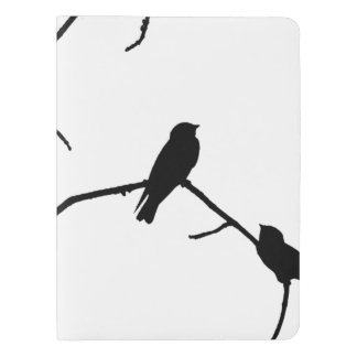 Swallow or Swifts Silhouette Love Bird Watching Extra Large Moleskine Notebook