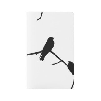 Swallow or Swifts Silhouette Love Bird Watching Large Moleskine Notebook