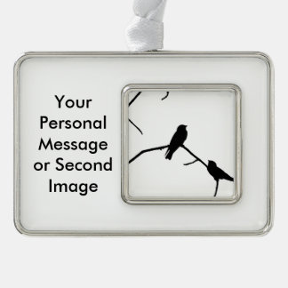 Swallow or Swifts Silhouette Love Bird Watching Ornament