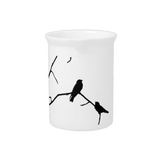 Swallow or Swifts Silhouette Love Bird Watching Pitcher