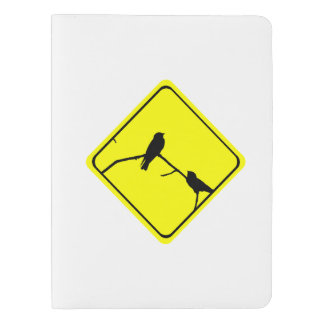 Swallow or Swifts Warning Sign Love Bird Watching Extra Large Moleskine Notebook