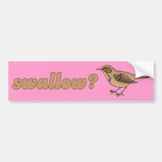 SWALLOW -.png Car Bumper Sticker