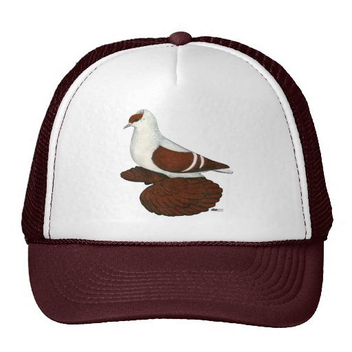 Swallow:  Red Fullhead Trucker Hat