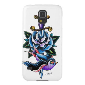 Swallow rose dagger case for galaxy s5