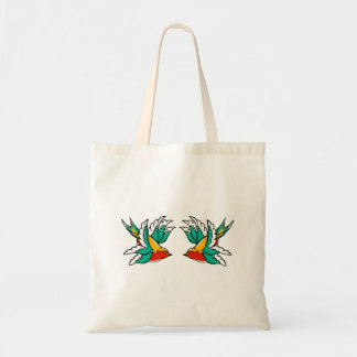 Swallow sailor tattoo inspired design tote bag