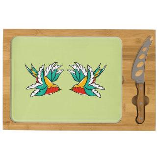 Swallow Sailors Tattoo Cheese Board
