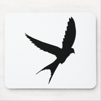 Swallow Silhouette Mouse Pad
