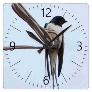 Swallow Square Wall Clock