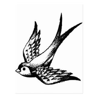swallow swallow bird wings lark buzzers holiday postcard