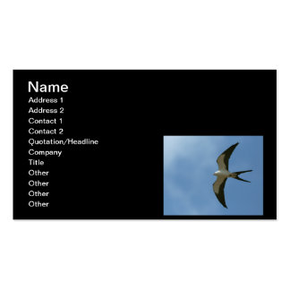 Swallow-tailed Kite Double-Sided Standard Business Cards (Pack Of 100)