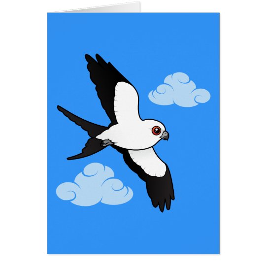 Swallow-tailed Kite in flight Card