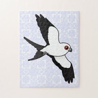 Swallow-tailed Kite in flight Jigsaw Puzzle