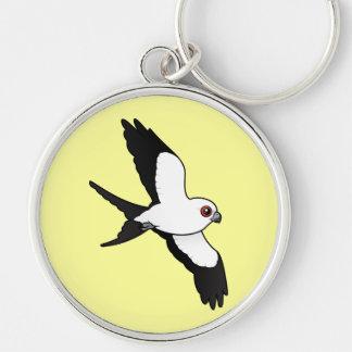Swallow-tailed Kite in flight Keychain