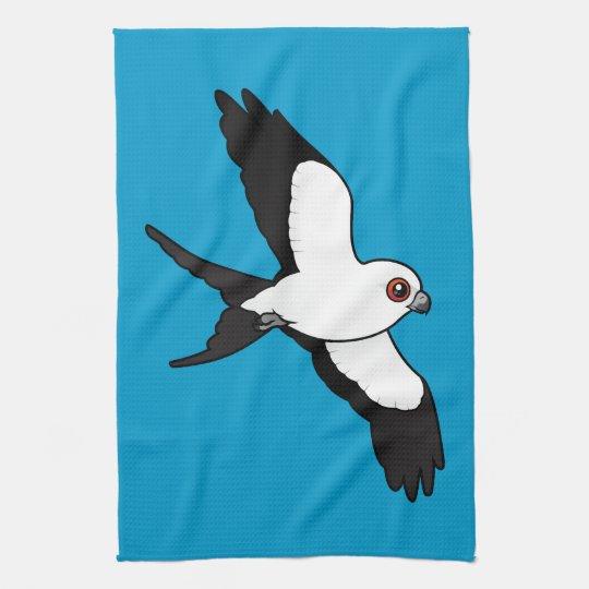 Swallow-tailed Kite in flight Kitchen Towel