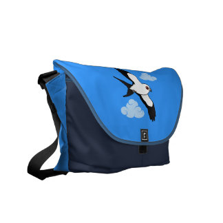 Swallow-tailed Kite in flight Messenger Bag