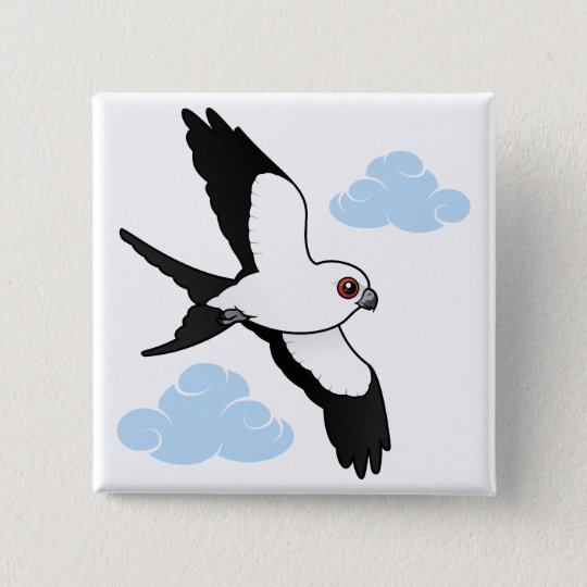 Swallow-tailed Kite in flight Pinback Button