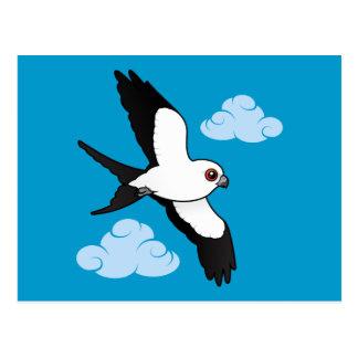 Swallow-tailed Kite in flight Postcard