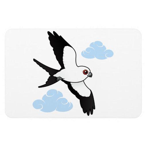 Swallow-tailed Kite in flight Rectangular Photo Magnet
