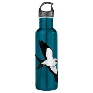 Swallow-tailed Kite in flight Water Bottle