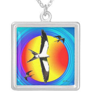 Swallow tailed kite pendant