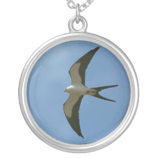 Swallow-tailed Kite Silver Plated Necklace