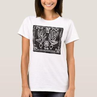 Swallow Tatt Block Print Tee Shirt