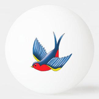 Swallow Tattoo Ping Pong Ball