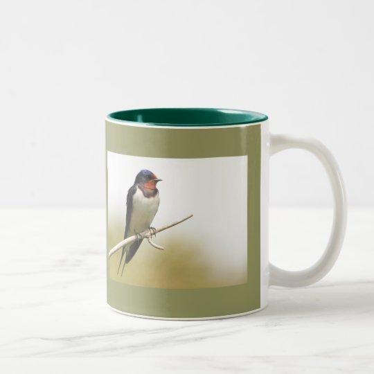 Swallow Two-Tone Coffee Mug