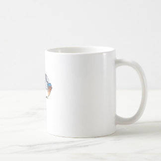 SWALLOW WITH FLOWER CLASSIC WHITE COFFEE MUG