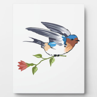 SWALLOW WITH FLOWER PLAQUE
