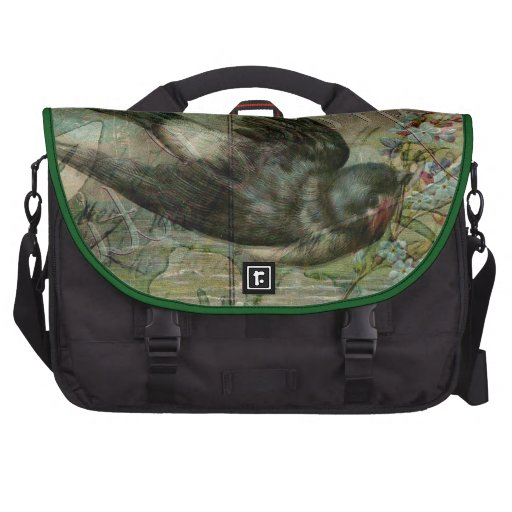 Swallow with Flowers Computer Bag
