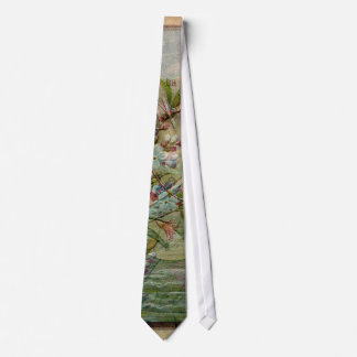 Swallow with Flowers Neck Tie