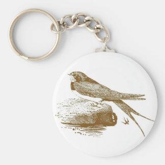 Swallow Woodcut Keychain