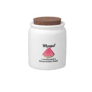 SWALLOWED WATERMELON SEED CANDY JAR