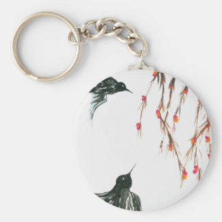 Swallows and berries keychain
