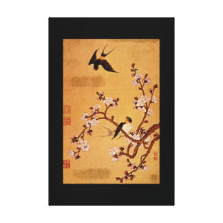 Swallows and Flowering Branches_The Orient Canvas Print