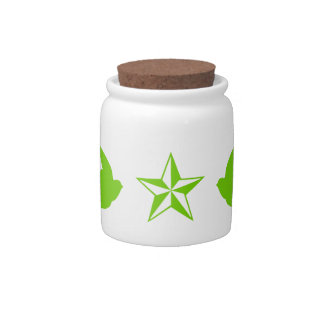 Swallows and Stars Candy Jar