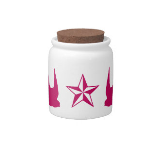 Swallows and Stars Candy Jars