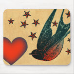 Swallows and Stars Mousepad