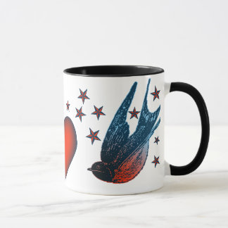 Swallows and Stars Mug