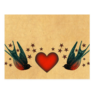 Swallows and Stars Postcard