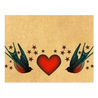 Swallows and Stars Postcard